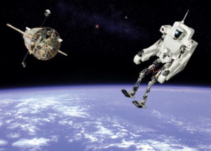robot in space